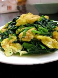 家常菜 蛋炒菠菜的做法