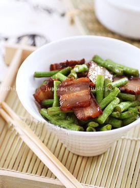 腊肉炒豆角的做法