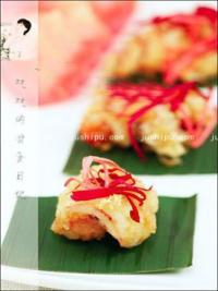 美食天下玫瑰金沙虾仁的做法