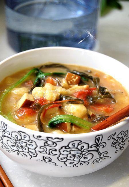 青菜蛤蜊汤的做法 jushipu.com