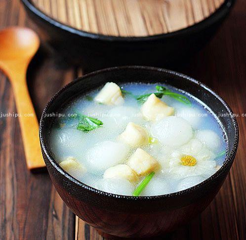 鲜贝冬瓜汤的做法 jushipu.com