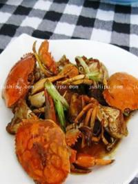 姜葱海蟹的做法