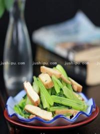 美食天下芹菜炒香干的做法