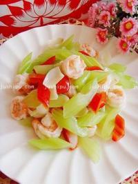美食天下百合炒虾仁的做法
