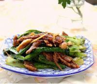 豆豉鲮鱼炒油麦菜的做法