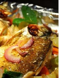 宴客菜 盐焗烤鱼的做法